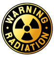 nuclear warning symbol vector image
