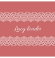 Ornamental lace border vector image