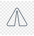 paper plane concept linear icon isolated on vector image vector image