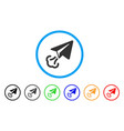 paper plane start rounded icon vector image