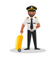 pilot cartoon character vector image