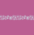 pink and baby blue snowflakes border christmas vector image