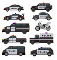 police car emergency policy vehicle truck vector image vector image