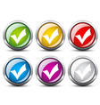 positive checkmark buttons vector image vector image