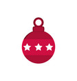 red ball with stars decoration happy christmas vector image vector image