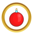 Red Christmas ball icon vector image vector image