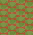 Retro 3D brown and green wavy vector image vector image