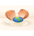 Save the world theme with cracking egg vector image vector image