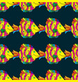 seamless pattern from decorative fish sea fish vector image