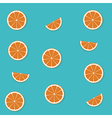 Seamless pattern with flat orange backgrou vector image vector image