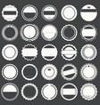 set empty retro vintage badges 2 vector image vector image