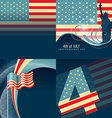 set of american flag design vector image vector image