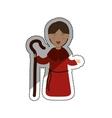 Shepherdess cartoon character vector image