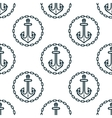 ship anchors with chain border spattern vector image vector image