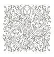 silhouette decorative ornament floral design vector image