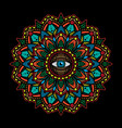 simple vintage mandala eye tattoos vector image
