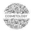 skincare and beauty cosmetology line icons vector image vector image