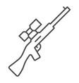 sniper rifle thin line icon gun vector image