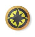 souvenir - compass rose symbol in golden frame vector image vector image