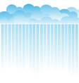 stacked clouds and streaks on a white background vector image vector image