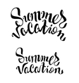 Summer Vacation lettering text vector image