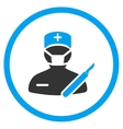 Surgeon Rounded Icon vector image