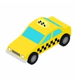 Taxi car isometric 3d icon vector image