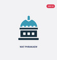two color wat phrakaew icon from religion concept vector image vector image
