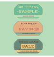 Vintage style sale labels vector image vector image