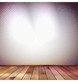 Wall with a spot illumination EPS 10 vector image vector image
