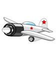 warplane fighter drawing vector image vector image