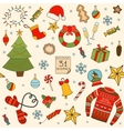 Winter and Christmas seamless pattern Hand drawn