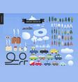 winter landscape constructor vector image