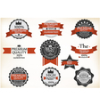 Premium Quality and Guarantee Labels with retro vi vector image