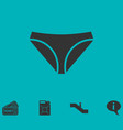 underwear icon flat vector image