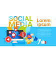 social media communication concept internet vector image
