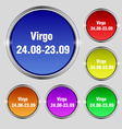 Virgo icon sign Round symbol on bright colourful vector image