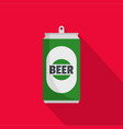 beer can icon flat style vector image vector image