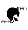 black man portrait with afro curly design barber vector image