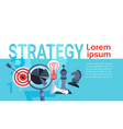 business concept successful strategy planning new vector image vector image