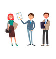 business plan presentation working woman and man