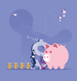 businessman as a charmer rats conjure money vector image