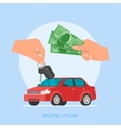 Car sale Customer buying vector image