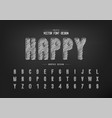 chalk font and round alphabet hand draw letter vector image vector image