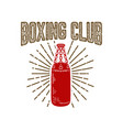 champion boxing club emblem template with vector image vector image