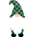 christmas gnome in green hat funny characters for vector image