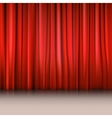 Close view of a red curtain vector image