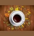 coffee cup concept - business doodle with coffe vector image vector image