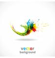 Color Ink Splash Grunge Background vector image vector image