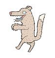 comic cartoon big bad wolf vector image vector image